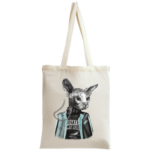 Sphynx Cat I Hate My Job Tote Bag