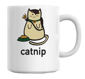 Catnip Cat Hunger Games Parody Mug