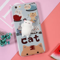 3-D Cartoon Cute Cat Cover Case for iPhone