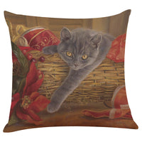 Cute Cat Sofa Bed Pillow