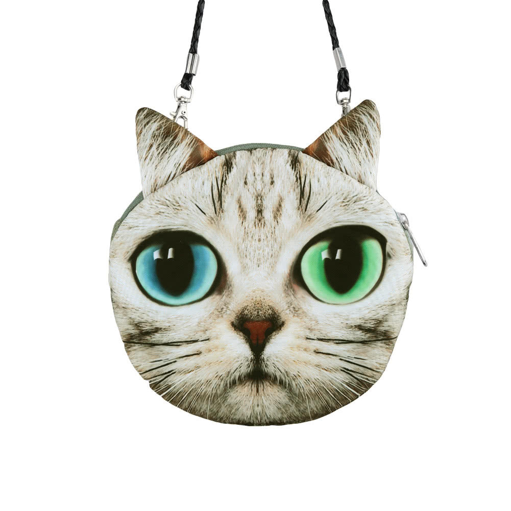 Cartoon Cat Face Women's Shoulder Bag