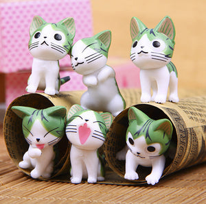 One Set Mini Cat Gardening Small Ornament