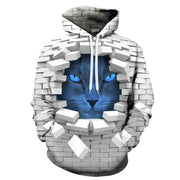 Blue And Cute Kitten 3-D Wall Hoodies!