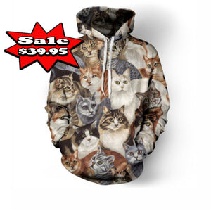 Multi Cat , Lion And Dog Hoodies