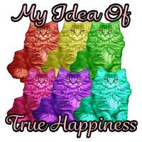 My Idea Of True Happiness Maine Coon T Shirt