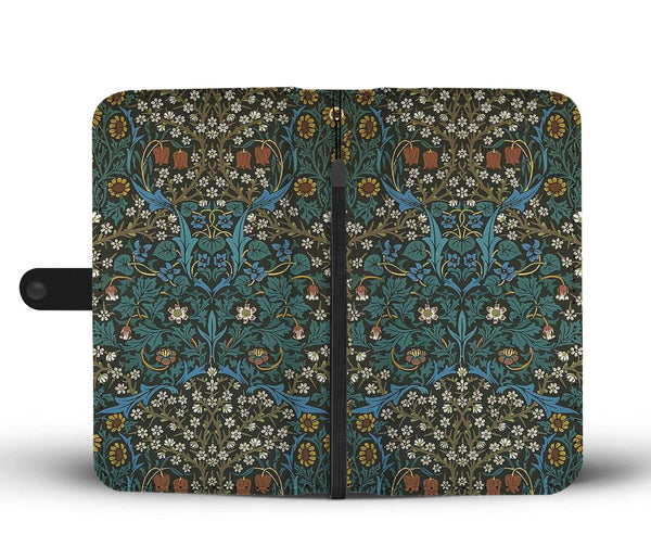 William Morris Floral Wallet Case - Kickcap