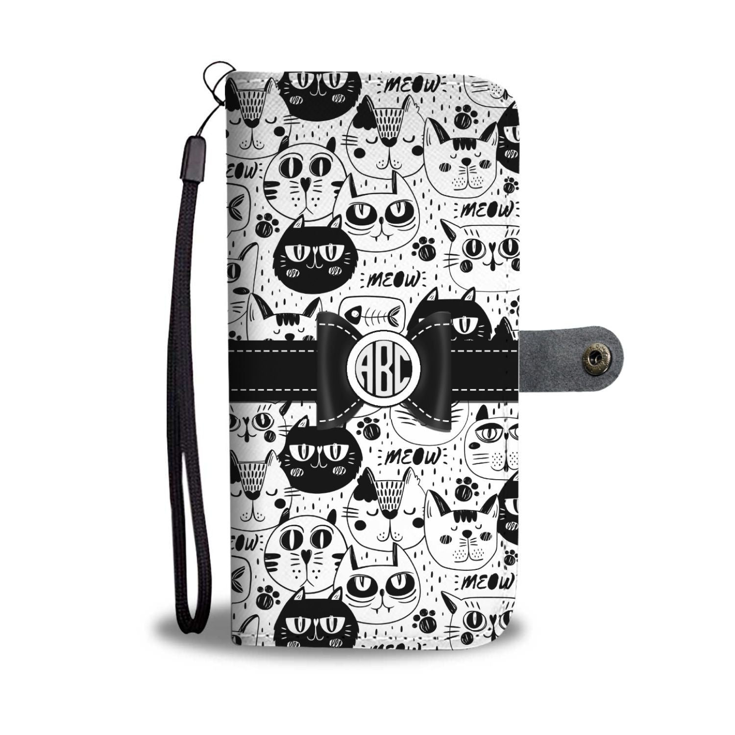 Cat Lady Wallet Case - Customizable Text - Kickcap