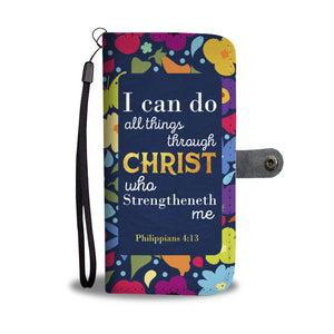 Christian Phone Wallet Case - Philippians 4:13 - Kickcap