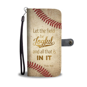 Bible Inspirational Wallet Case - Psalm 96:12 - Kickcap