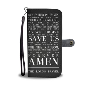 Christian Phone Wallet Case - The Lord's Prayer - Kickcap