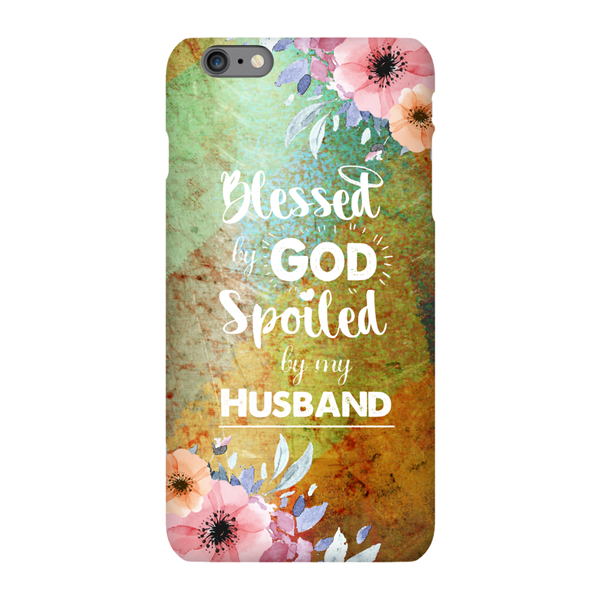 Christian Phone Cases - Blessed by God Spoiled by my Husband - Kickcap