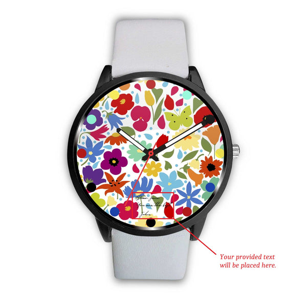 Floral Personalized Watch - Kickcap