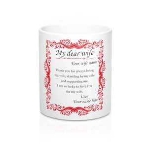 CUSTOM MUG - THANKS FOR BEING MY WIFE - Kickcap