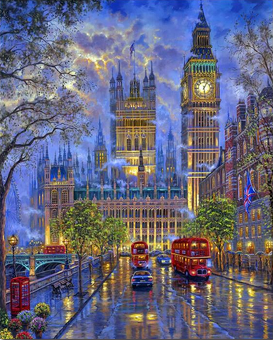 London Oil Painting Wall Art - Kickcap