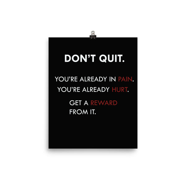 Don't Quit Motivational Poster - Kickcap