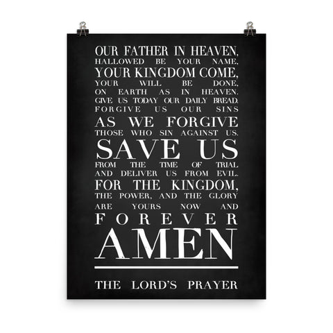 The Lord's Prayer Poster - Kickcap