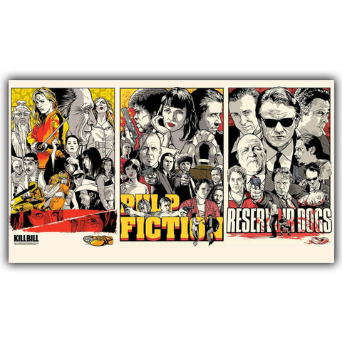 Kill Bill Pulp Fiction Reservoir Dogs Poster