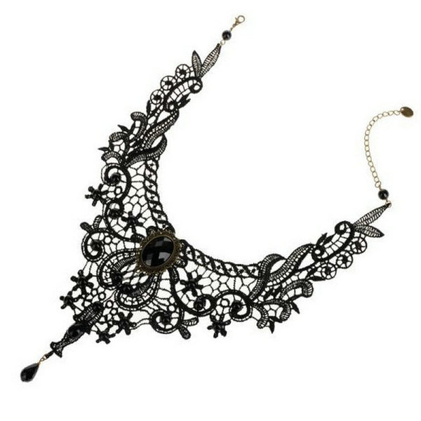 Gothic Victorian Lace Necklace - Kickcap
