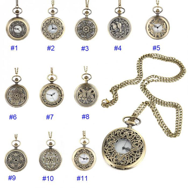 Vintage Steampunk Pocket Watch - 11 Styles - Kickcap