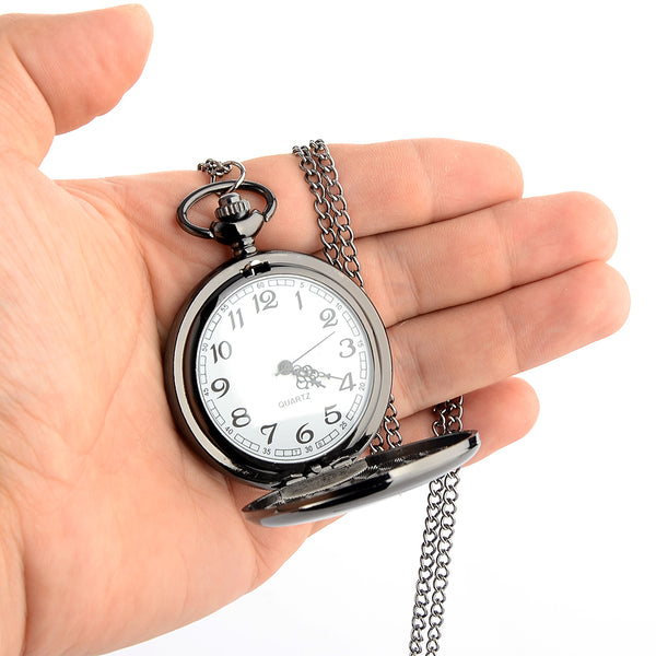 Retro Classical Silver Polish Pocket Watch - Kickcap