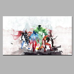 Watercolor Superhero Abstract Poster