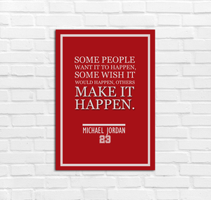 Michael Jordan Make It Happen Inspirational Poster - Kickcap
