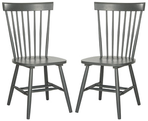 Set of 2 Parker Chairs, Charcoal Grey