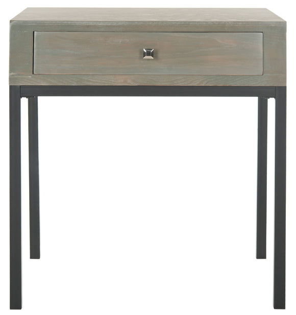 Adena End Table with Storage Drawer, French Grey