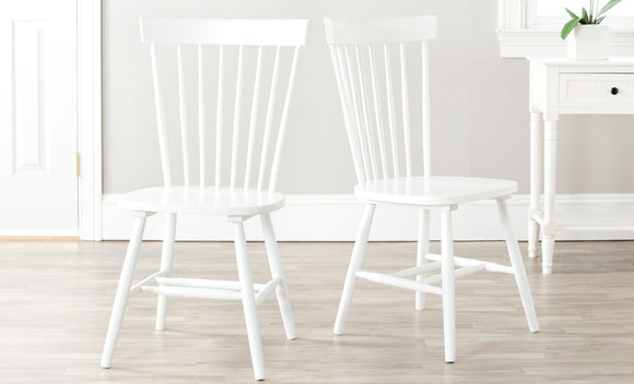 Set of 2 Parker Chairs, White