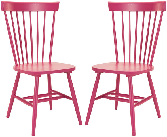 Set of 2 Parker Chairs, Raspberry