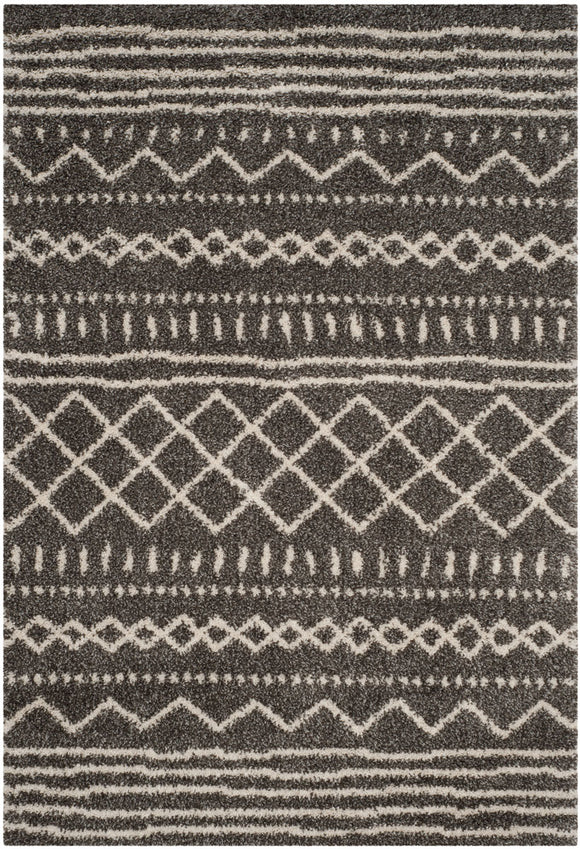 Arizona Shag Rug, Brown/Ivory