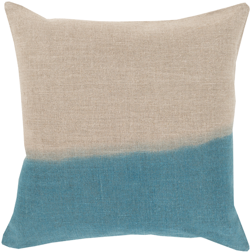 Dip Dyed Pillow, Teal