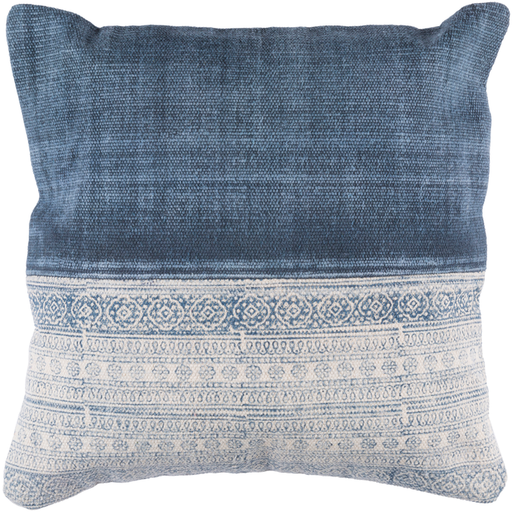 Lola Pillow, Cream and Navy
