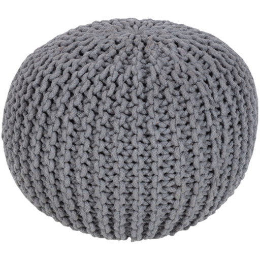 Malmo Pouf, Medium Gray