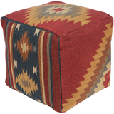 Frontier Pouf, Dark Red