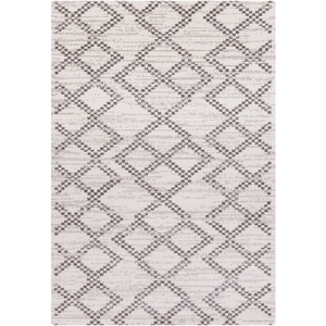 Perla Rug, White and Charcoal