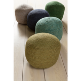 Tropics Pouf, Dark Blue