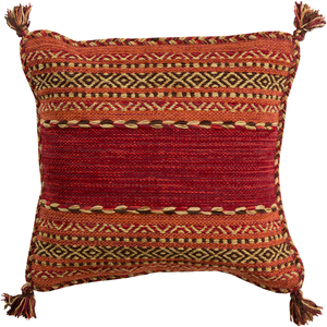 Trenza Pillow, Dark Red