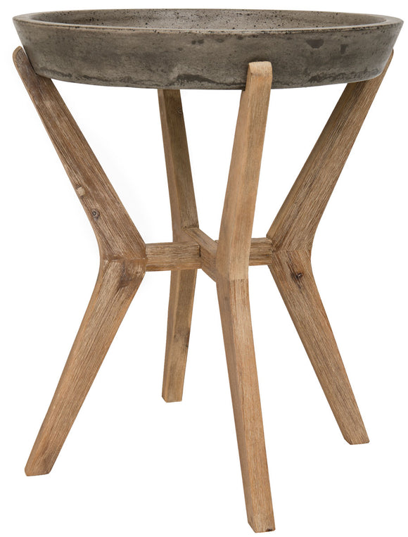 Celeste Indoor/Outdoor Modern Round End Table