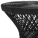 Grimson Small Bowed Accent Table, Black