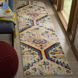 Watercolor Rug, Light Blue/Yellow