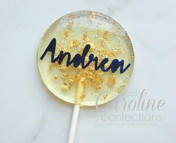 Die Cut Name Lollipops - Set of 6 - Sweet Caroline Confections | The Original Sparkle Lollipops