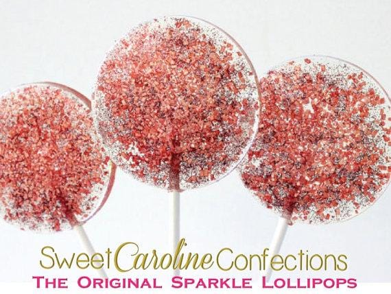 Red Sparkle Lollipops - Set of 6 - Sweet Caroline Confections | The Original Sparkle Lollipops