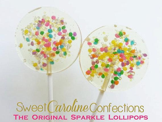 Confetti Sparkle Lollipops - Set of 6 - Sweet Caroline Confections | The Original Sparkle Lollipops