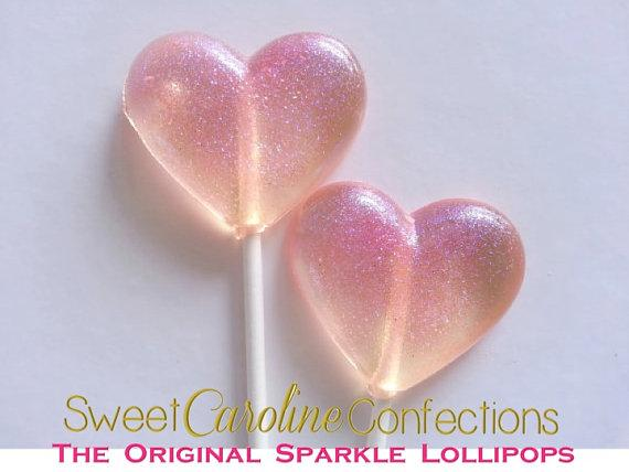 Pink Sparkle Lollipops - Set of 6 - Sweet Caroline Confections | The Original Sparkle Lollipops