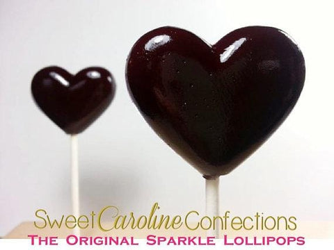 Black Lollipops - Set of 6 - Sweet Caroline Confections | The Original Sparkle Lollipops