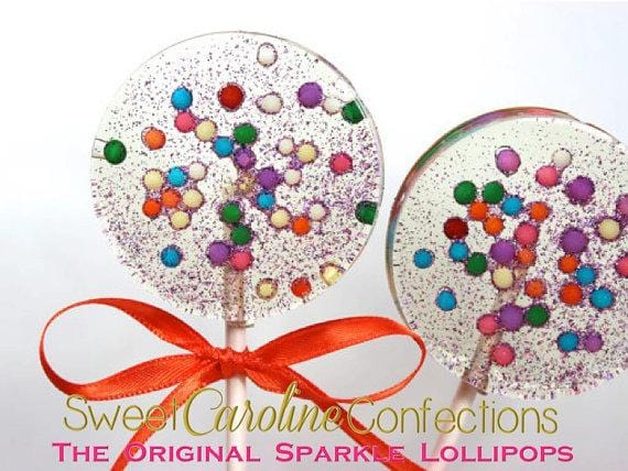 Multicolored Pearl Sparkle Lollipops - Set of 6 - Sweet Caroline Confections | The Original Sparkle Lollipops