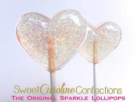Light Peach Sparkle Lollipops - Set of 6 - Sweet Caroline Confections | The Original Sparkle Lollipops