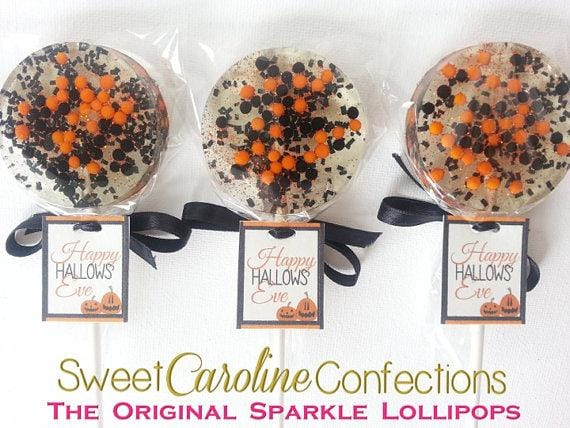 Halloween Sparkle Lollipops with Tags, Set of 6 - Sweet Caroline Confections | The Original Sparkle Lollipops