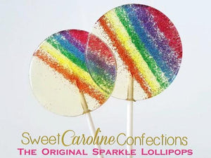 Rainbow Sparkle Lollipops - Set of 6 - Sweet Caroline Confections | The Original Sparkle Lollipops